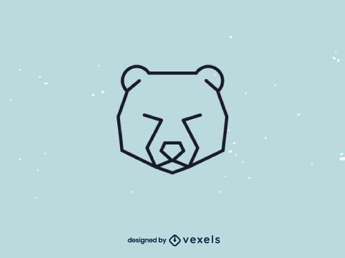 Bear Polygonal Head Logo