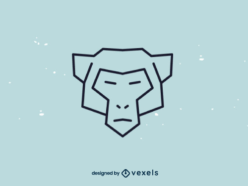 Monkey Polygonal Head Logo