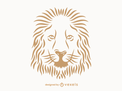 Lion Face Line Art Logo