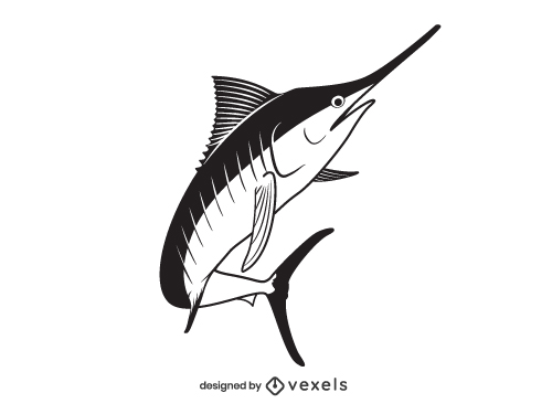Swordfish Marlin Fish Illustration