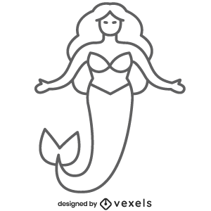 fantasy,mermaid,mythical creature,sea,black and white,mythology,line icon,bw,icon,stroke,animal,symbol