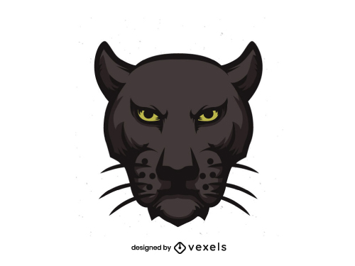 Panther Head for Logo or Sports Team Emblem