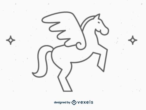 mythical creature,pegasus,fantasy,black and white,mythology,line icon,bw,icon,stroke,animal,symbol