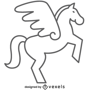 mythical creature,pegasus,fantasy,black and white,mythology,line icon,bw,icon,stroke,animal,symbol