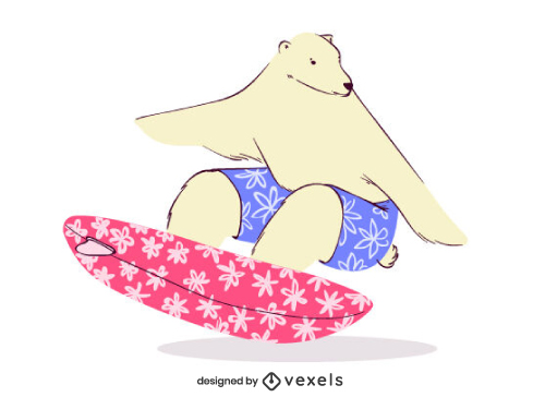 Surfing Polar Bear Surf Sport
