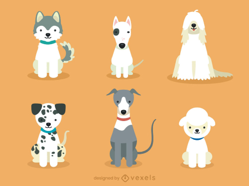 Dog Breeds Cute Puppy Set