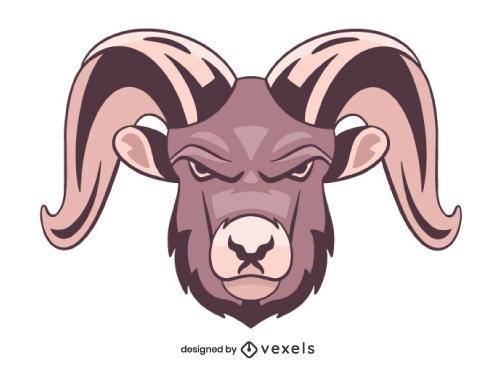 Ram Head Mascot Logo