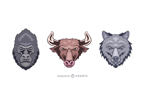 Sports Animal Mascot Logo Set