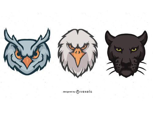 Angry Animal Head Sport Mascots