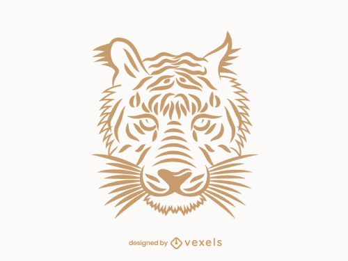 Tiger Face Line Art Logo