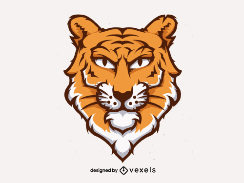 Tiger Head for Logo or Sports Team Emblem