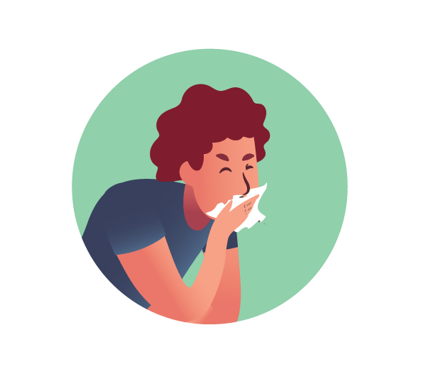 Sneezing and Coughing Symbol