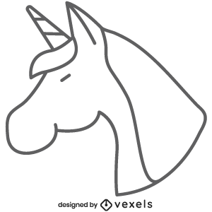 Unicorn Line Icon Mythical Creature