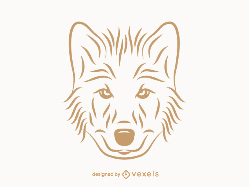 Wolf Head Outline Logo Line Art