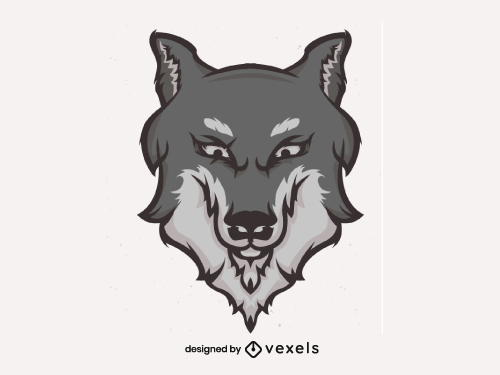 Wolf Head for Logo or Sports Team Emblem